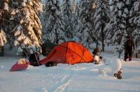 Лагерь на полонине Рущина