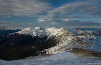 Весь Черногорский хребет (на горизонте посредине видна Говерла)