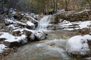 Река Яузлар с множеством маленьких водопадов