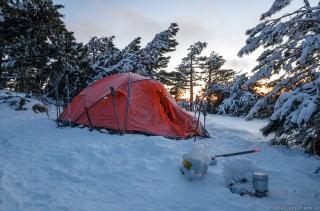 Лагерь 1 на рассвете